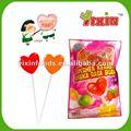 en forma de corazón del caramelo del lollipop