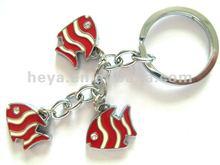 2012 attractive design fish keychains