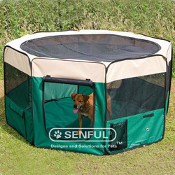 Fabric Pet Playpen Folding pet playpen with 8 panels