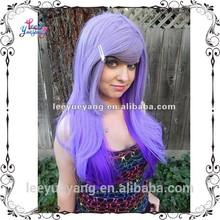 Hip light purple to dark purple straight ombre wigs
