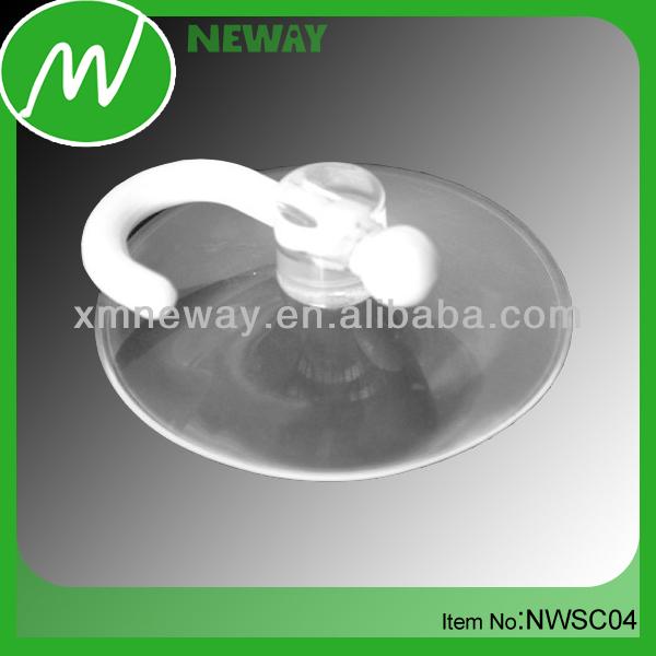 Transparent hook suction cup