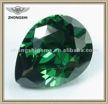 Shinning Precious Emerald Cubic Zirconia in Pear shape