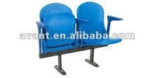 Luxe public plastic seating folding chair arena seating audience chair fixed seating