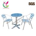 Brillante y al aire libre de aluminio mesas y sillas yc-t43