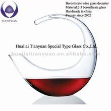 handmade pyrex art glass wine decanter