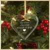 Fashionable Clear Heart Hanging Glass For First Christmas Gifts