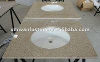 G682 Rusty cheap granite vanity top with vessel sink