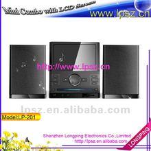 "DVD /CD Mini combo with 7""LCD screen FM radio /USB/ SD/TV (LP-201)"