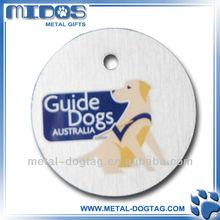 30mm round dog tag with custom image