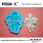 Fondant art silicone 3D cake mold, decorating embossing mold