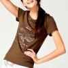 anti-wrinkle slim fit rubber printing custom t shirt for girl wholesale