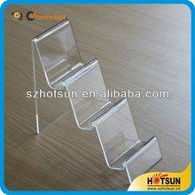 Hot Item 4 tiers Acrylic Wallet Display Shelf