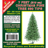 7 Feet (210cm) Christmas Pine Hook Tree 560 Tips Plastic Stand