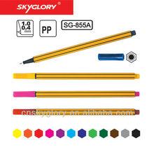 0.4 mm nib size hexangular fine line pen