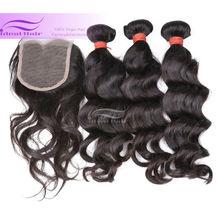 wholesale natural wavy virgin hair indian / brazilian/peruvian hair weft