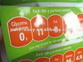 kundenspezifische Nahrungsmittelaufkleberfirmenzeichenabziehbild-Nahrungtatsachen