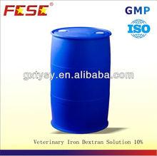 veterinary iron dextran solution stored in parcel shelf