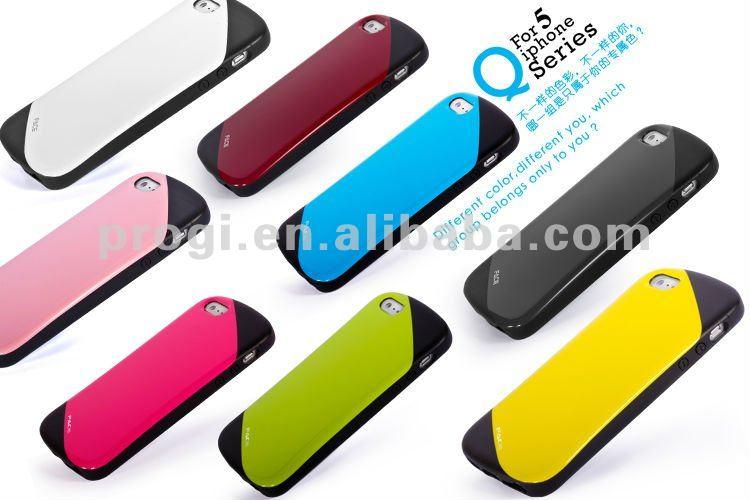 viso di marca q serie tpu custodia per iphone 5s con confezione