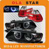 car led halo projector headlight