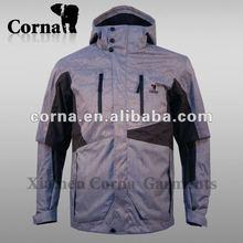 Men fashion technical polyester active ski jacket 3xl