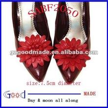 shoes bow&Leather Dahlia Flower Shoe Clips