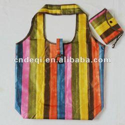 rainbow design durable oxford fabric supermarket foldable shopping bag