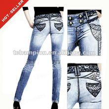 (#TG351W ) 2013 french jeans brands plus size skinny women jeans xxl
