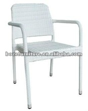 Outdoor Rattan Dining Chair/ Caffee Chair wicker armrest stacking chair