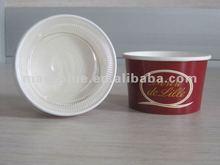 rekabetçi fiyat tek kağıt dondurulmuş yoğurt kabı plastik düz kapak