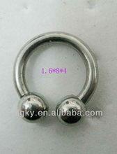 Stainless Steel Horseshoe Earrings spiral Eyebrow Piercing