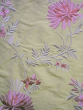 Yarn-dyed douppion embroidery silk fabric