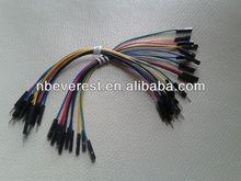 Nova m-f 15cm breadboard jumper de fio de cabo com cores