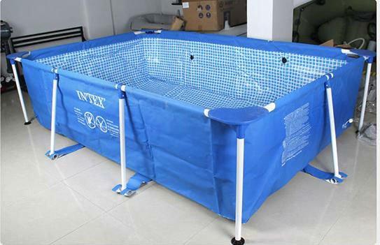 Splash plastic rectangular above ground swimming pool for Piscina 1000 litros