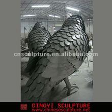 casino stainless steel kingfisher animal statue