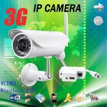 Wireless outdoor 3G WCDMA ip camera 3G sim card security camera surveillance hidden microphone