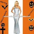 ml17518 2014 prata brilhante festa backless formal vestido impressionante de um ombro vestido de noite vestido de baile sexy vestido
