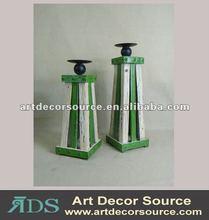 Antique wooden candle holder
