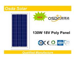 130w 18v pv cell solar panel