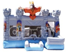 Kids Inflatable King Castle Bouncers for Party Event