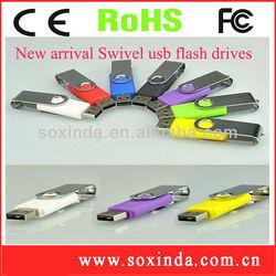 Best selling custom Metal swivel memory stick16mb to 64gb usb flash drive wholesale