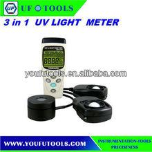 3 in 1 Digital Solar Power UVA & Light Meter TM-208 USB datalogging