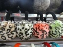 winter FUZZY leopard print earmuffs wholesale