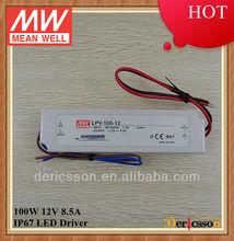 MEAN WELL 100W led transformer 12V CE LPV-100-12