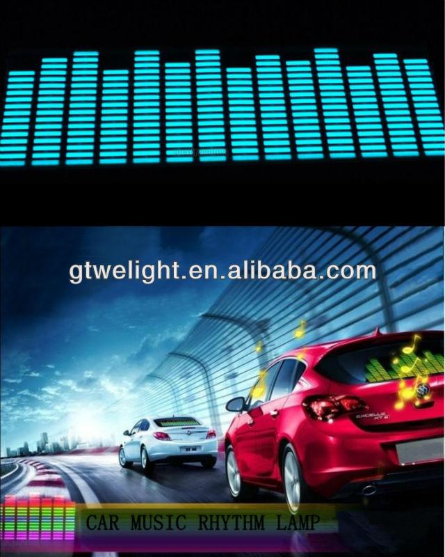 114x30cm Sound music Activated Car Stickers Equalizer 12V LED Light