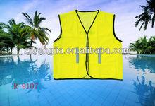 yellow safety vest reflective jacket /men and women jacket