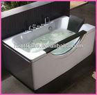 NEW hydro free standing whirlpool bathtub with glass