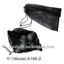 A198-1 cheap meshed golf ball bag \ black golf ball bag