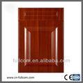 baratos de alto brillo de madera del grano de pvc gabinete de cocina puerta