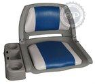 Molded folding boat seat