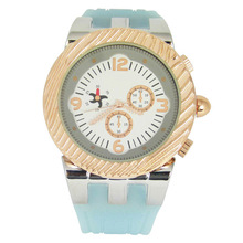 Silicone Japana quartz fashion custom face watch